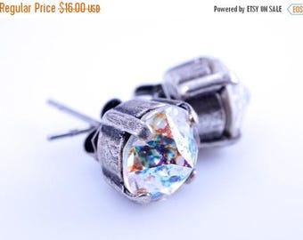 Sale NEW CONFETTI SPARKLERS - New Swarovski Pointed Chaton Crystal Elements - White Patina