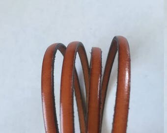 """5mm Flat Whiskey Brown Leather - price is for 42"""""""