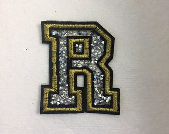 "Letter ""R"" Rhinestone Patch"