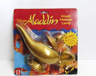 Disney Aladdin Magic Message Lamp 1992 By Mattel 8 Ball In Package Genie