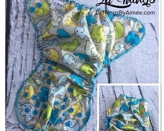 NEW Custom One Size Fits Most OS Swim Diaper Cover Boys Girls Elephant Walk