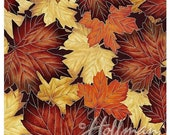 Memorial Day Sale Can'T Stop Falling~Autumn Leaves Cotton Fabric By Hoffman