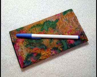 Quilted Checkbook Cover - Fabric Checkbook Covers - Checkbook - Quilted Checkbook - Cotton Fabric - CC16