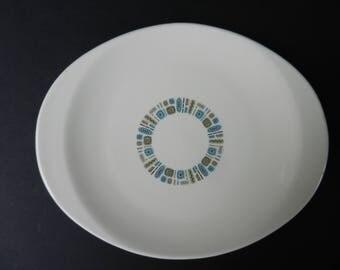 "Mid Century Temporama Serving Platter, Canonsburg Pottery, 11 1/2"" Serving Plate, Retro Atomic Dinnerware"
