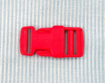 Buckle 25 mm red