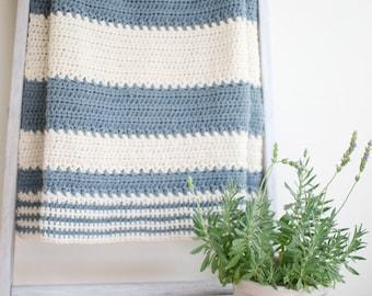 Crochet Blanket Pattern / Baby Afghan Pattern / DIY Shower Gift - Crochet Pattern by Hidden Meadow Crochet P-SpringCharms