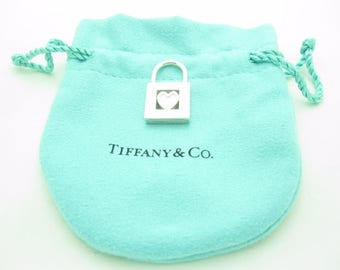 Tiffany & Co. Sterling Silver Heart Lock Charm Pendant