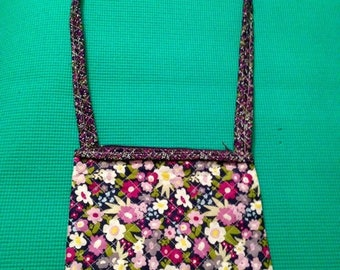 quilted handbag, quilted shoulderbag, quilted crossbody bag, women's handbag, girl's handbag, quilted purses, multicolor bag, floral bags