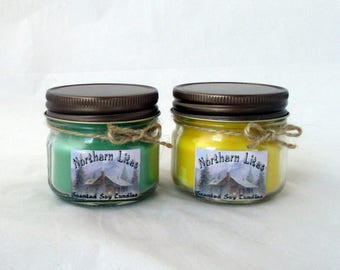 4 oz mason jar soy candles, jar candle, soy wax candle, soy candle, container candle, handmade candle, scented candle, gift candle