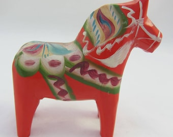 Vintage Swedish Horse Red Dala Nils Olsson Swedish Home Decor- as it is