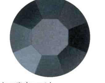 hematite (gunmetal) flatback crystals/rhinestones - one gross