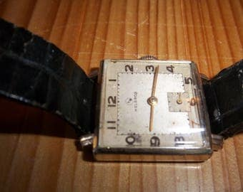 Retro 1950's Helbros Gold Plated Swiss Made Pristine Keeps Time 60 Day Warranty Free World Wide Shipping