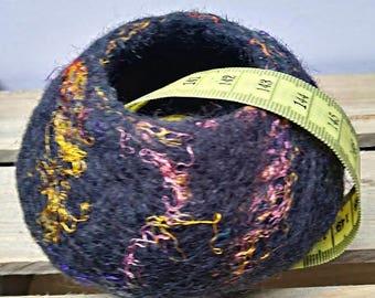 """Wet Felted Pot, """"Harmony"""" Felt Bowl, Wool Pot, Jewelry Pot, 10 cm felt bowl, Felt Art, Wool Vessel"""