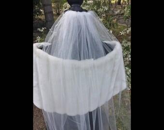 Fingertip Veil Short Veil White Ivory Bridal Veil Wedding