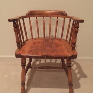 Antique Solid Oak Wood   Captainu0027s Chair   Very Nice ! Bentwood Thonet Style