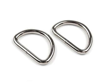 4 Stirrup 38 mm silver metal buckle