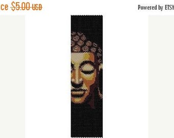 SALE HALF PRICE off Instant Download Beading Pattern Peyote Stitch Bracelet Buddha Face Seed Bead Cuff