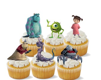Monsters Inc Cupcake Toppers