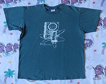 Vintage 90's Apples In Stereo band T shirt, size Large indie rock Neutral Milk Hotel