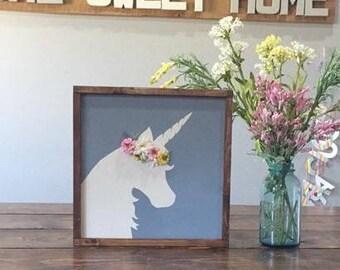 Floral Headpiece Unicorn