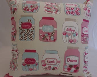 Pillow - Sweet Jar design feature cushion, complete with cushion pad, zip fastening