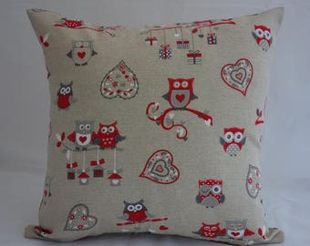 Pillow - Owl design feature cushion, complete with cushion pad, zip fastening