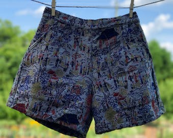 Comfy Woven Shorts: Oriental