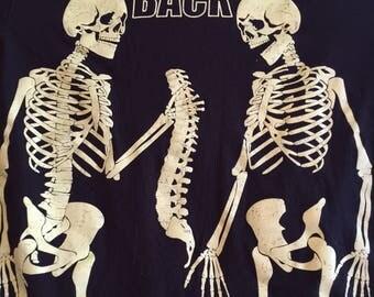 Vintage Skelton glow in dark tshirt I got your back tshirt