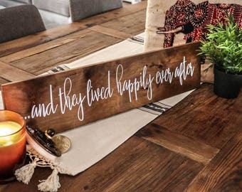 Wedding Sign, Love Sign, Wedding Table Sign, Wooden Wedding Sign, Love Art, Quote Sign, Wood Sign, Timber Sign, Wood Wedding  | 60cm x 14cm