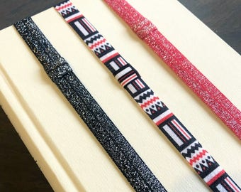 Red and Black Sparkle Book Mark or Planner Band