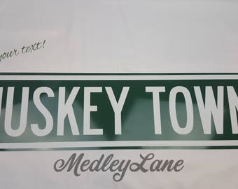 "Custom Sign 24""x 6"", Personalized, Choose your colors & text! Medley Lane"
