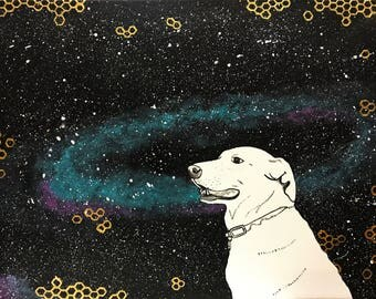 Custom Pet Portrait - Acrylic on Canvas