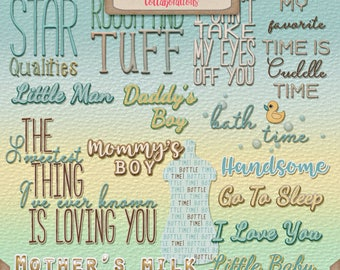 Digital Scrapbooking, Baby Boy, Word Art: You're My Lil' Boy