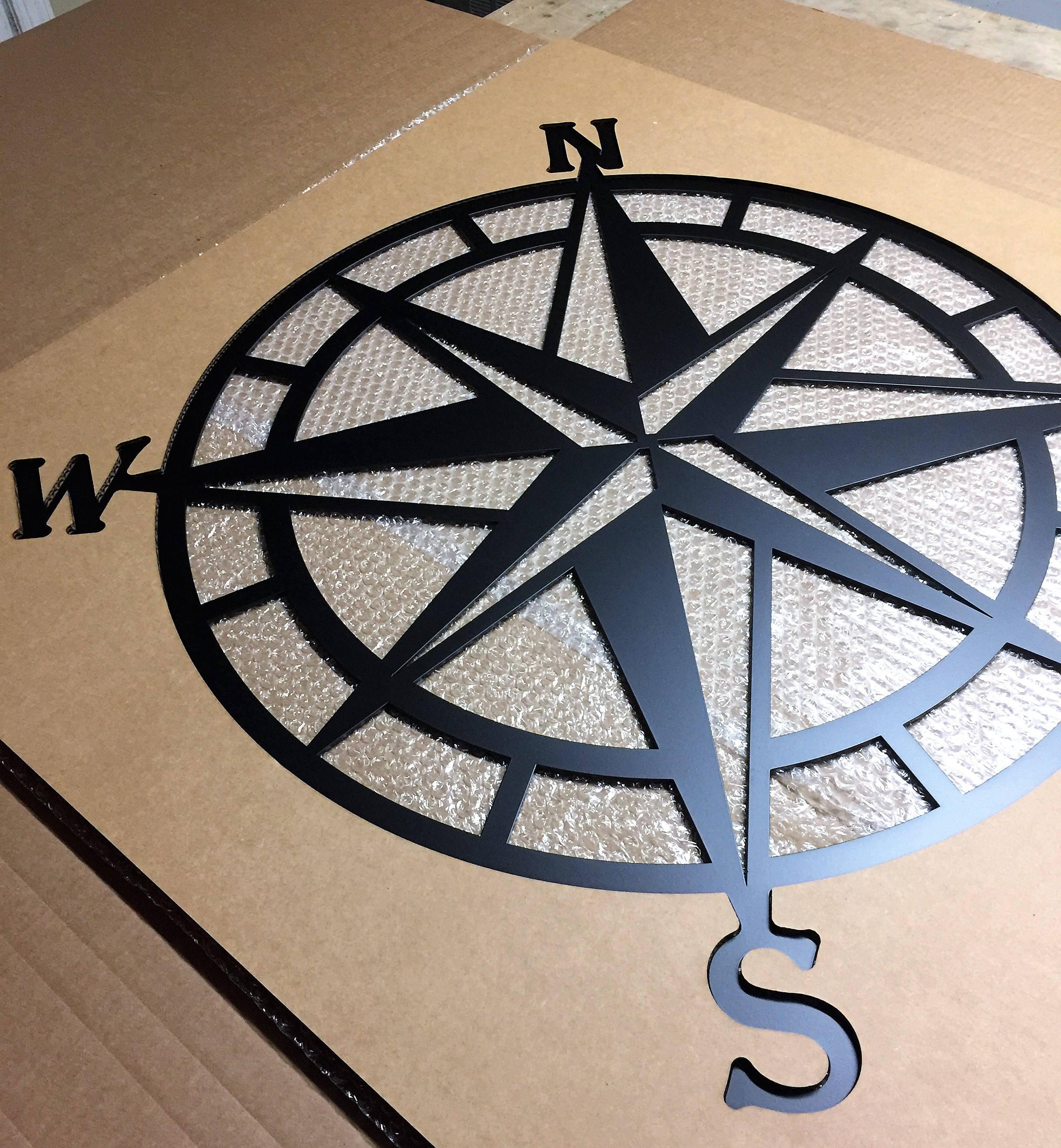 compass wall decor nautical compasswall art nautical metal. Black Bedroom Furniture Sets. Home Design Ideas