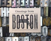 Greetings from Boston postcard