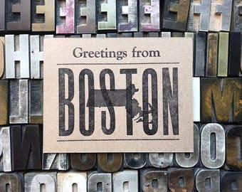 Greetings from Boston postcard