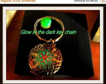 Summer Sale 65% off Repurposed, reused, upscale Glow in the Dark Key Chain Never loose your FOB or keys again in the Dark Stylish Durable Br