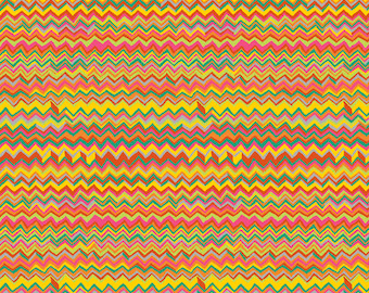 ZIG ZAG BRIGHT BM043 Brandon Mably for Kaffe Fassett Collective Sold in 1/2 yd increments