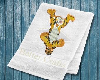 Winnie the Pooh Tigger Applique Machine Embroidery Designs, Tigger Embroidery Design