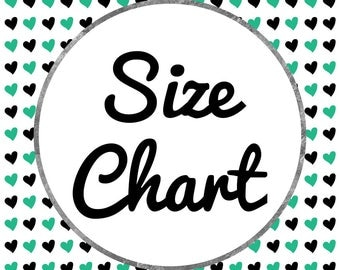 Size Chart // Sizing Information