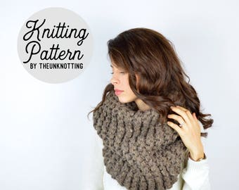 PATTERN // The Outlander Cowl // Chunky Knit Cowl Pattern