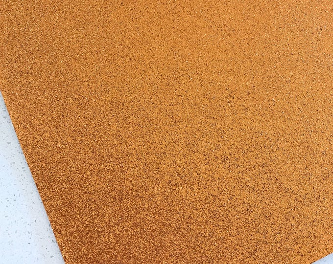 Orange Gold Fine Glitter Fabric Sheet A4 or A5 Sheet Fine Orange Glitter Fabric