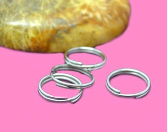 Double 10mm silver rings