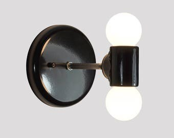double light wall sconce industrial wall lamp with edison bulbs wall light fixture