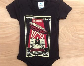 Printed Baby One-sie- Led Zeppelin/ Black