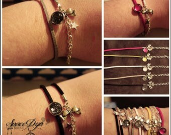 """Colorful suede """"Chic & Star"""" bracelet"""