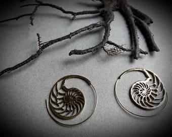 earrings *nautilus*