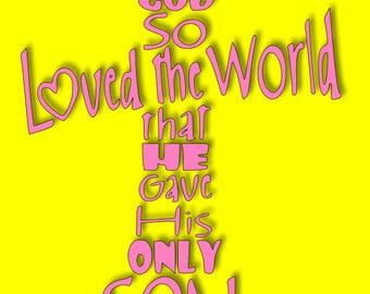 John 3:16 SVG