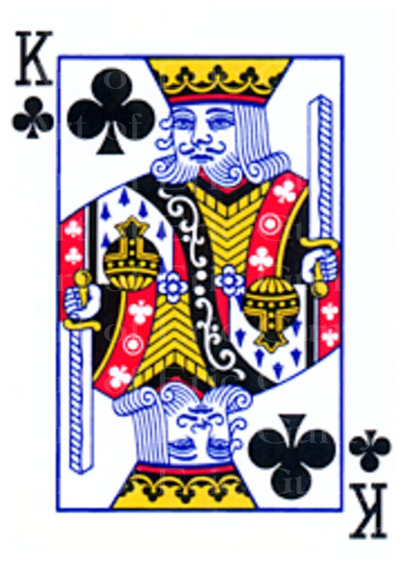 King of Clubs Casino Poker Birthday - Edible Cake and Cupcake Topper For Birthday's and Parties! - D22968