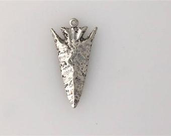 Sterling Silver Large Arrowhead Pendant